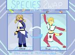 Species Swap Meme (Oliver and Aran) by Larikane