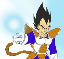 Vegeta on Earth by Nei-Ning
