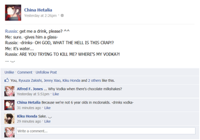 FB Hetalia: Water and Vodka an Milkshakes and Sake by FB-Hetalia-Roleplay