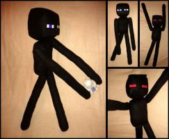 Minecraft Enderman Plushie by Threnodi