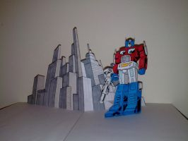 Optimus Prime Pop Up by WillziakDS