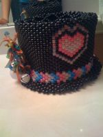 Kandi top hat. by Fantasia-Shimmerfire