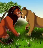 Zira and Scar by Shabi000