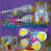 Mega Metagross papercraft by Everton11
