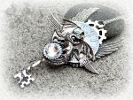 Midnight Whisperer- Steampunk Dragon Key Necklace by ArtByStarlaMoore