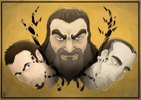 A Song of Ice and Fire faces: The Deer Brothers by 9999DamagePoints