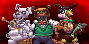 Daily Sketch 34- Five Nights at Nook's by TheAlienBanana