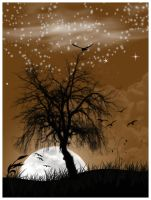 Moon And Tree by Emindeath
