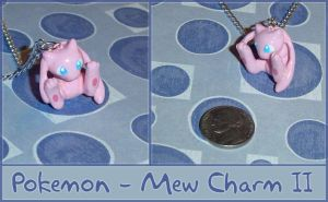 Pokemon - Mew Charm Necklace 2 by YellerCrakka