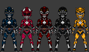 MMPR - Five Rangers by theherocreator