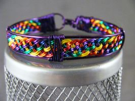 Six Color Rainbow In Purple by lisagems