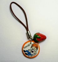 Ichigo cellphone charm by MariaHasAPaintBrush