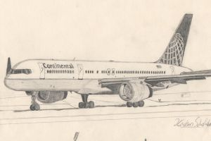Boeing 757 Drawing by kmsAircraftArt