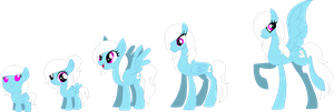DOLL: Swan Feather's age progression by Starlollipop
