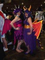 Spyro and Cynder Cosplay by KuraudoStrifeWolfvii