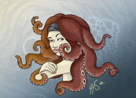 octopus hair 2 by VODKABABY