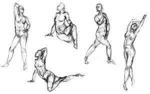 Some figure drawings! by i-be-spoomed