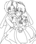 USUK: Happy Wedding (lineart) by AutumnLegend