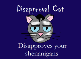 Disapproval cat by Faul-T-Wiring