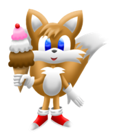 Tails Sonic Lineless Transparent by MikariStar