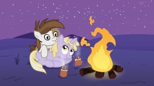 Campfire Cuddle Commission by minimoose772