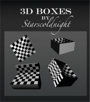 Black And White Boxes By Starscoldnight by StarsColdNight