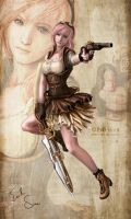 FF13 Lightning Steampunk Version by Evil-Siren