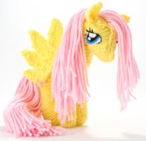 Fifth Fluttershy - Knitted Plush by SparkAbsurd