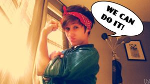 We Can Do It~ Rosie the Riveter by livdrummer