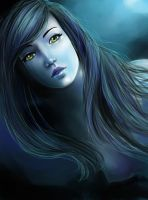 Speed Paint: Blue Mermaid-Edit by stargate4ever23