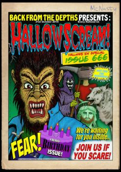 Hallowscream! 2014 Hallowe'en Special front cover by MalcolmKirk