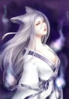white fox spirit by shikirio