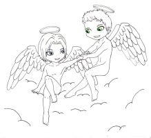 Angel!verse - Sam and Dean by ChinSung