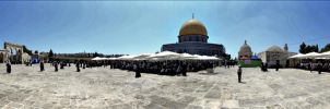 Dome of the Rock Panorama by nasahkalam