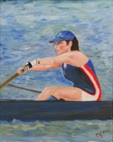 Shirine Rowing in Oil by CarolynYM