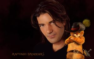 Antonio Banderas and Puss in Boots by Kajenna
