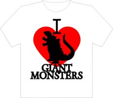 I Heart Giant Monsters Shirt by Jay13x