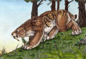 Smi-Sma-Smilodon by BloodhoundOmega