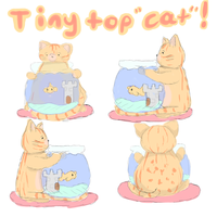 Tiny Top CAT (Please vote for me by fav'ing!) by Art-Is-My-Oxygen