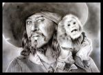 Captain Barbossa and Jack by Sonen89