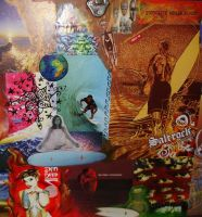 Surf Collage Detail 1c by ChaoticatCreations