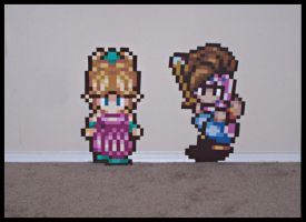 Secret of Mana Pixel Paintings by Amaranth44