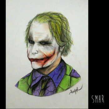 Joker (heath ledger) | color pencils by SMHR14