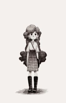 curly girl by sonichouse