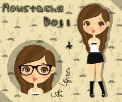 Moutache doll (.PNG) by mishycrazylove