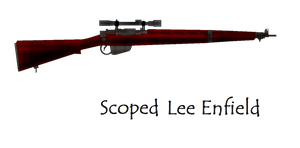 Scoped Lee Enfield by pete7868