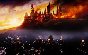 Burning Hogwarts by Lennves