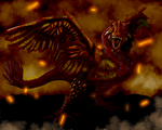 Phoenix Dragon by astronomicalgrimace