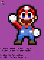 (SMW)Classic Mario in MLSS Style by FaisalAden