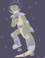 big lizzard in da space by Mewi-or-Melody-Wind